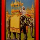 """""""RAJAH"""" Elephant in India-Antique Vintage NN NARROW NAMED Swap Playing Card-Red"""