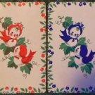 """""""BIRDIES"""" MR. & MRS. BIRDIE-ANTIQUE VINTAGE PRE 1970 USNN SWAP PLAYING CARD"""