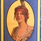 """""""IROQUOIS"""" Indian Maiden-1908 ANTIQUE VINTAGE USWN WIDE NAMED SWAP PLAYING CARD"""