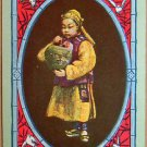 CHINESE BOY HOLD VASE-VINTAGE USWN NAMED SWAP PLAYING CARD-POLITICALLY UNCORRECT