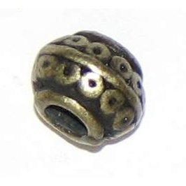 10 Antique Bronze Ornate Bowl Shaped Beads