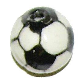 3 Ceramic Soccer Ball Beads - Balls
