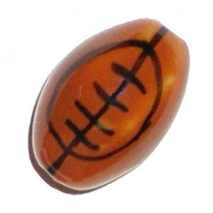 3 Ceramic Football Beads - Footballs