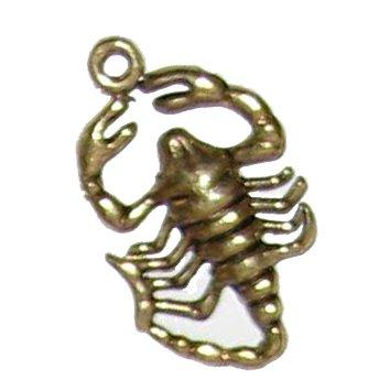 6 Antique Brass Scorpion Charms - Scorpions