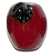 3 Glass Red Apple Beads - Apples