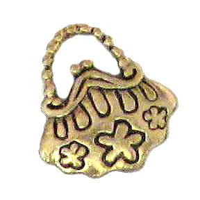 6 Antique Gold Purse Charms