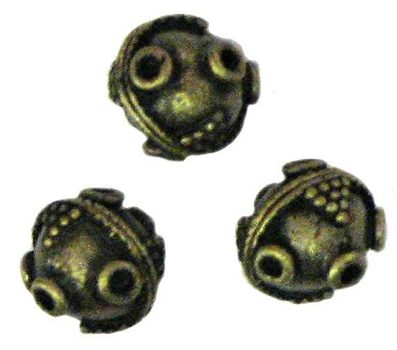 8 Antique Bronze Large Sputnik Beads