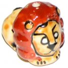 3 Ceramic Lion Beads - Lions