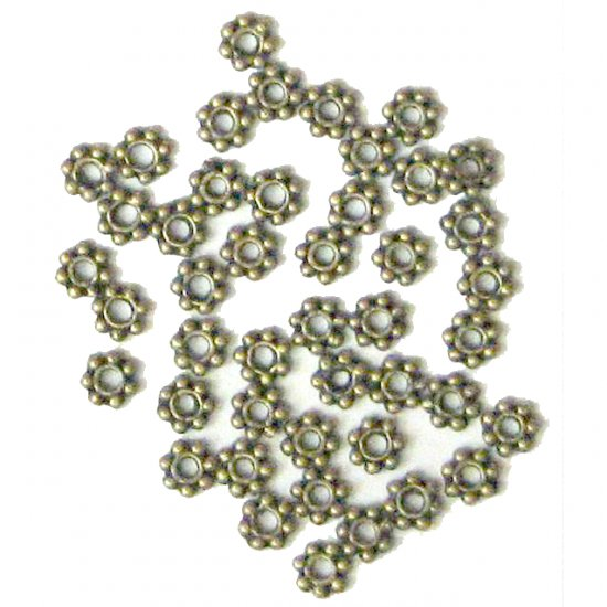 100 4mm Antique Bronze Daisy Spacer Beads