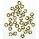 100 6mm Antique Gold Spacer Beads