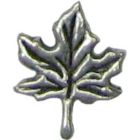6 Antique Silver Maple Leaf Pendants - Leaves