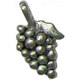 6 Antique Silver Grape Bunch Pendants - Grapes