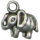 6 Antique Silver Elephant Charms - Elephants
