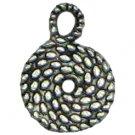 6 Antique Silver Rope Swirl Charms - Swirls