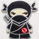 "Embroidered Badge ""Ninja Girl Patch"" Sew on or Iron on Patch, Appliques Craft DIY"