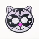 cat big eyes cartoon patch.