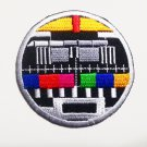 Classic Multi-color TV test embroidered sew on or iron on patch.