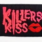killers kiss pink text Iron On Patch.
