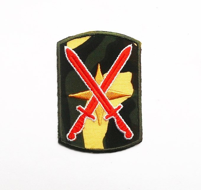 Military sword army iron on patch.