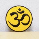Yellow Ohm Symbol iron on patch.