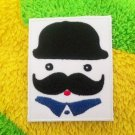 Uncle mustache wear hat Iron On Patch.