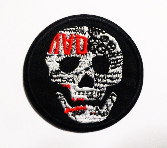 Embroidered Skull for rock patch.