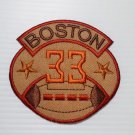 Embroidered boston football 33 iron on patch.
