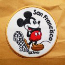 vintage mickey mouse san francisco embroidered iron on patch.
