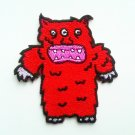 red monster three eyes Iron on Patch.