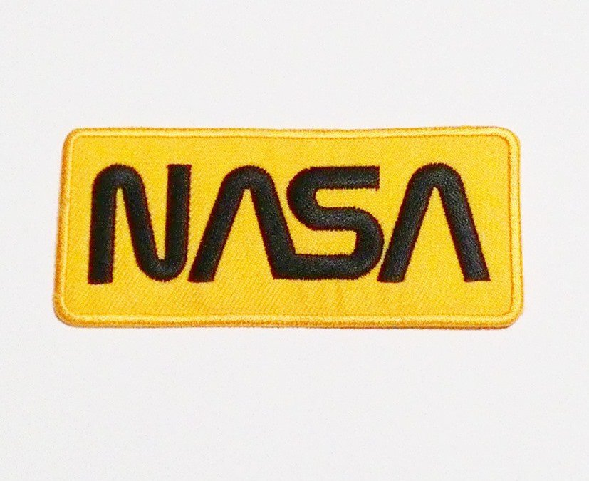Yellow NASA Badge Embroidered Iron-on Patch.
