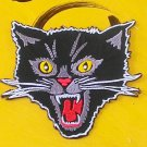 Black Cat threat  Embroidered Iron-on Patch.