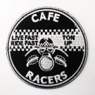 Cafe racers for biker Iron on Patch.