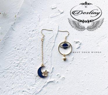 Star Series Stud Earrings Blue Night Lovers Special Earrings.