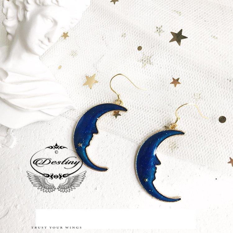 Star Series Stud Earrings Blue Night Special Earrings.