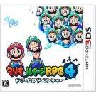 Mario and Luigi RPG 4 Dream Adventure Nintendo 3DS Game Japanese Import RPG NEW
