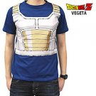 Dragon Ball Z T Shirt  DBZ Costume Tee Saiyan Anime Vegeta M XL Japan