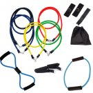 13PCS Heavy Resistance Band Yoga Tension Rope Fitness Stretch Door Loop Gym Abs