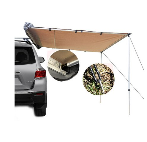 Car Awning Roof Top Tent 2.5M x 3M Outdoor Camper Trailer Camping Pull Out 4WD
