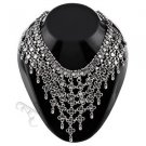 Oxidised White Metal Handcrafted Indian Ethnic Women Gypsy Necklace(AMB-CHOK-15)