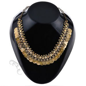 Oxidised White Metal Handcrafted Indian Ethnic Women Gypsy Necklace Jewelry 18