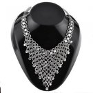 Oxidised White Metal Handcrafted Indian Ethnic Women Gypsy Necklace Jewelry 03