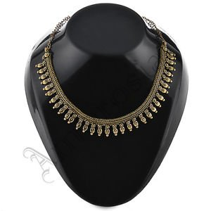 Oxidised White Metal Handcrafted Indian Ethnic Women Gypsy Necklace Jewelry 21