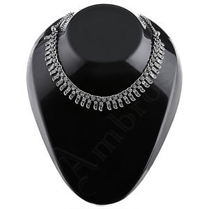 Oxidised White Metal Handcrafted Indian Ethnic Women Gypsy Necklace Jewelry 32