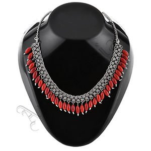 Oxidised White Metal Handcrafted Indian Ethnic Women Gypsy Necklace Jewelry 28