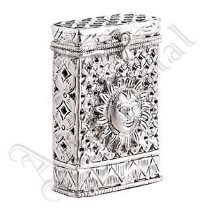 Vintage Style Oxidised White Metal Handcrafted Indian Ethnic Cigeratte Case 01