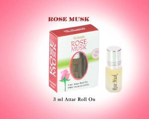 Al Nuaim Rose Musk 3ml Attar Perfume Oil Alcohol Free Natural by Ambrosial