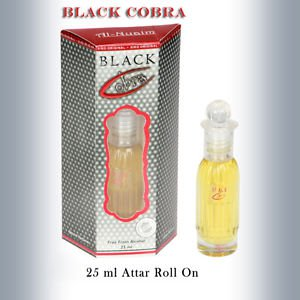 Al Nuaim Black Cobra 25ml Attar Perfume Oil Alcohol Free Natural by Ambrosial