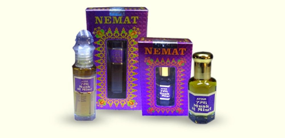 Attar Amber White 726 10ml Perfume Oil Alcohol Free Natural Nemat by Ambrosial