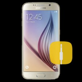 (WH) Samsung Galaxy S6 Audio Jack Replacement - WHITE
