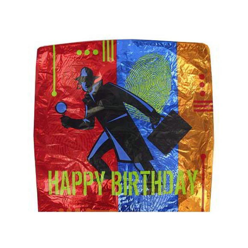 Top Secret Agent Mylar Happy Birthday Balloon